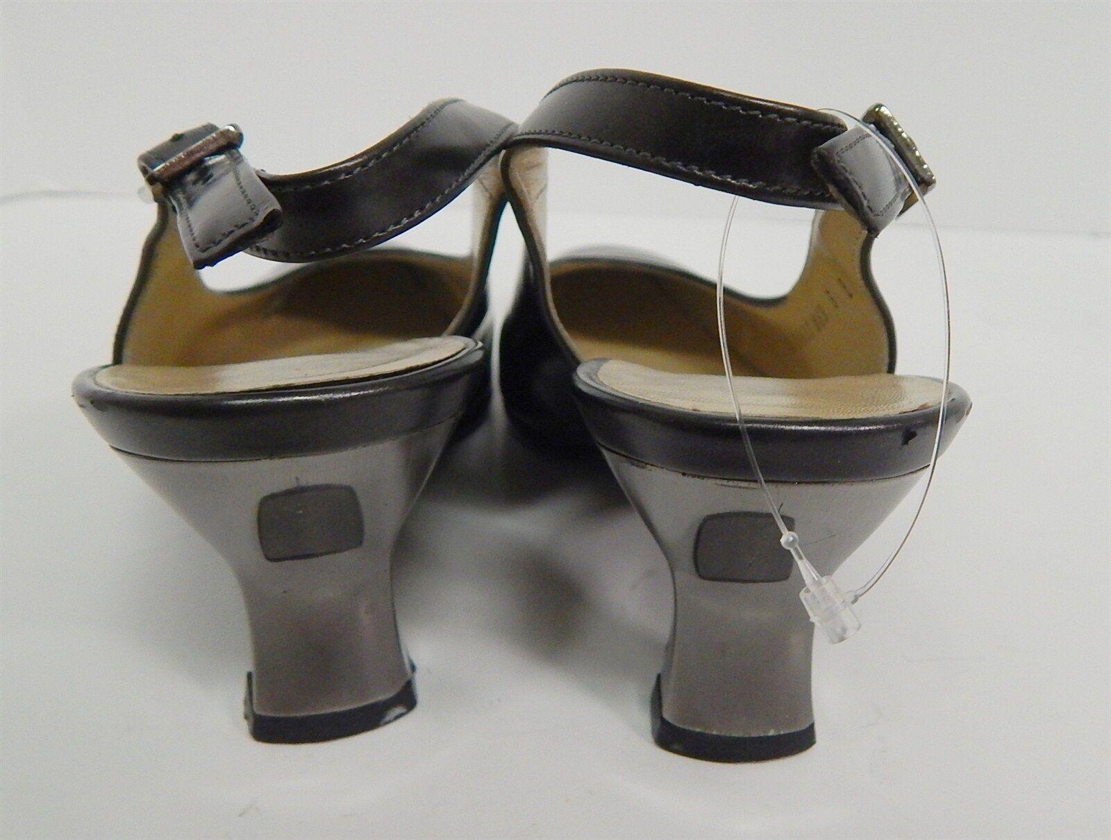 Salvatore Ferragamo Heels Deep Pewter Leder Slingback Pumps Heels Ferragamo 5 B  183f67