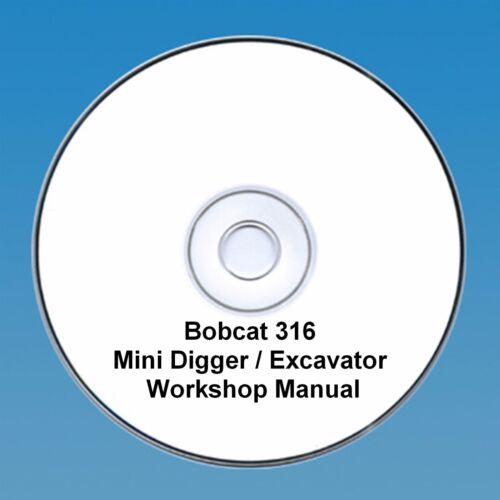 Bobcat 316 Mini Digger Workshop Manual