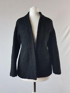 VINTAGE-70-S-veste-laine-bouclette-Knit-Blazer-Smart-Soiree-UK-8-10