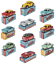 Lot-de-10-voitures-miniatures-1-48-Mercury-Mercedes-Alfa-VW-Lancia-Fiat-Hachette miniatura 1