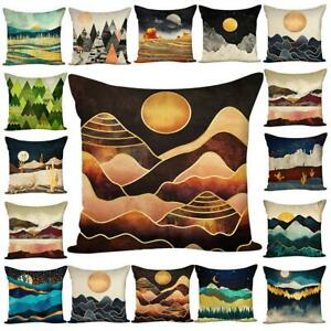 Scenery Oil Painting Pillowcase Throw Sofa Couch Cushion Pillow Cover Home Decor