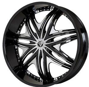 24 Inch 24x10 Diablo Morpheus Black Wheel Rim 6x135 35 Ebay
