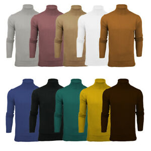 428c1e1a489 Details about Mens Brave Soul 'Hume' Roll Neck Polo Light Cotton Knitwear  Jumper Sweater
