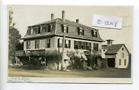 Wenham MA Mass RPPC real photo Post Office & Store, horse, wagon, barn, early