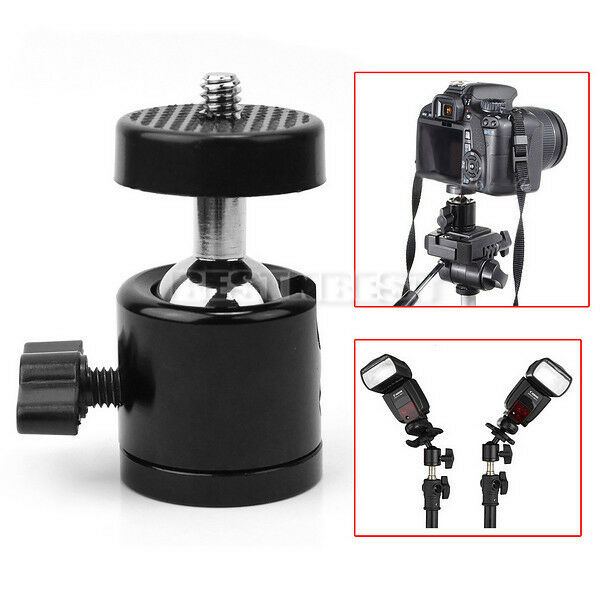 "Hot Photography Studio 360° Swivel Mini Ball Head 1/4"" Screw for Camera Tripod"