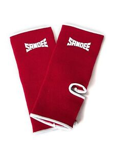Sandee Premium Red Ankle Supports Muay Thai Protection Anklets Kickboxing MMA