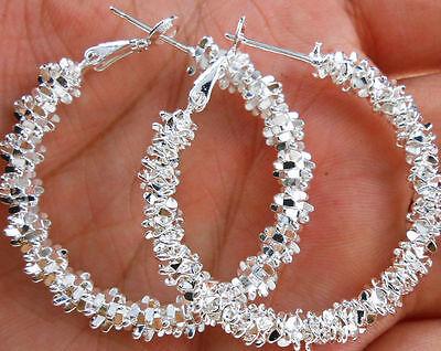 """Wholesale Women Jewelry 2016 NEW Gift Silver Plated """"Stars"""" Hoop Dangle Earrings"""