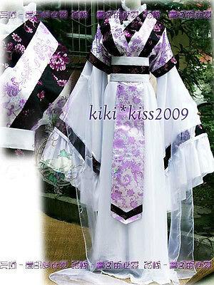 Kimono Purple Dress/Rock Cosplay Costum Made HanFu