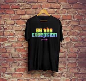 Être le Exception Seanese T-shirt plusieurs tailles adultes bleu marine