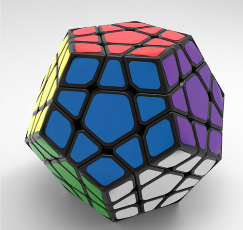 Black Shengshou SS Megaminx Speed Magic Cube Aurora JIGUANG Twist Puzzle