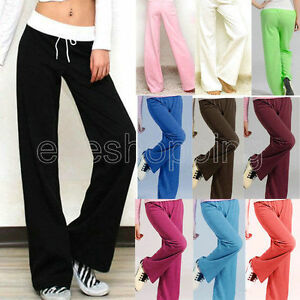 brown yellow grey Yoga Women Summer Black purple Pants Lounge Blue Leg blue Long royal white Casual Trousers Wide green Loose Gym turquoise HRqgH78