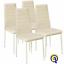 miniatura 9 - Set 4 sedia tavolo per sala da pranzo cucina eleganti moderne robusto ecopelle