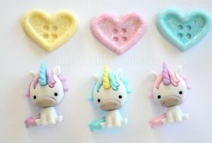 Unicorn /& Glitter Hearts Unicorn Love Dress It Up Jesse James Buttons