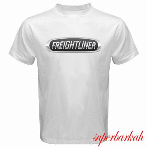 New Freightliner Trucks Company Trucker Logo Men/'s White T-Shirt Size S-3XL