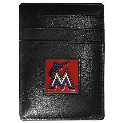 Weitere Ballsportarten Fanartikel Miami Marlins Mlb Feine Vollleder Kartenhalter Geldklammer Portemonnaie Neueste Technik
