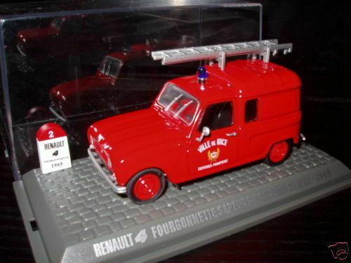 4L8F Voiture 1//43 M6 NOREV Renault R 4 L 4L pompiers fire NICE