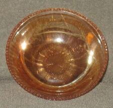 VINTAGE PEACH CARNIVAL GLASS CANDY / SNACK / FRUIT / DESSERT BOWL