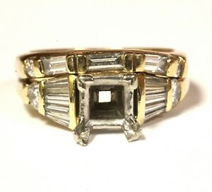 14k-yellow-gold-96ct-VSG-diamond-semi-mount-engagement-wedding-band-ring-7-1g