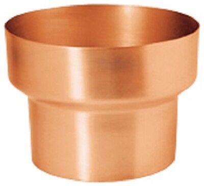 Fürs Dach GroßZüGig Kupfer Fallrohr Reduzierung/reduktion 120mm/100mm Baustoffe & Holz