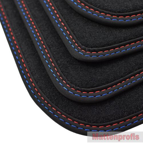 07//2013 Tappetini professionisti velluto tappetini cucitura doppia per BMW 5er f11 Touring ab Bj