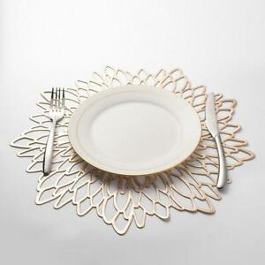Non-slip-Table-Placemat-PVC-Hollow-Flower-Coaster-Heat-Insulation-Cup-Pads-Mats