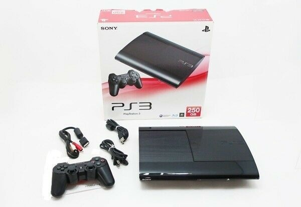 SONY PS3 PlayStation 3 250GB Black CECH-4200B Game console Used Tested Boxed