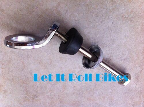 Bicycle Springer Fork Bolt /& Ring Chrome Bikes