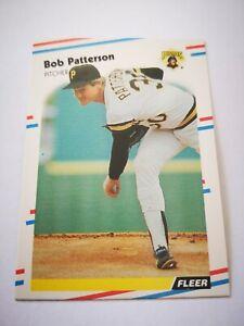 Fleer 1988 carte card Baseball MLB US NM+/M Pittsburgh Pirates 337 Bob Patterson