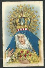 Postal antigua borgada de la Virgen Macarena image pieuse santino holy card