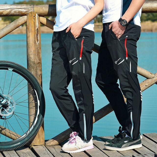 Herren Fahrradhose Lange Outdoor Laufhose MTB Sport schnelltrockende Wander Hose