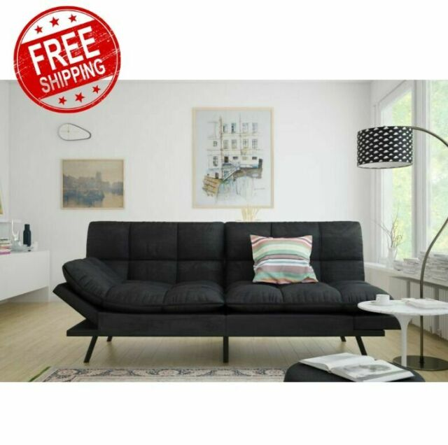 Surprising Sleeper Sofa Bed Black Suede Convertible Couch Modern Living Room Futon Loveseat Gmtry Best Dining Table And Chair Ideas Images Gmtryco