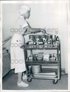1953-Nurse-w-Surgical-Supplies-on-Cart-City-Hospital-Columbus-GA-Press-Photo