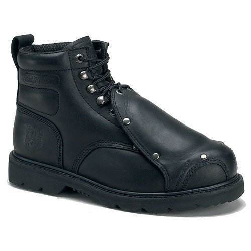 Rhino 6MS01 Mens Black Leather 6  METATARSAL Work Boots