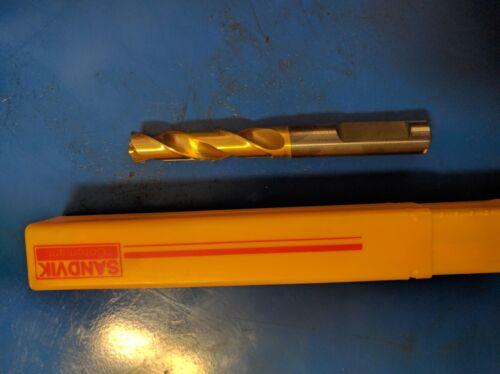 SANDVIK COROMANT carbide drill 9.50mm FL 50mm OL 90mm wt coolant bores