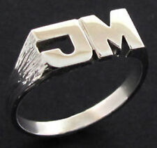 NEW STERLING SILVER PERSONALISED ANY INITIAL RING 3g UK