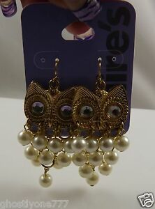 Claires-sensitive-solutions-gold-tone-earrings-Owls-owl-faux-pearls