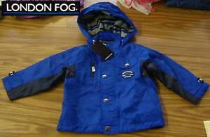 2ebdf28cf London Fog Boys  Fleece Lined Hooded Jacket-BLUE-3T-NWT