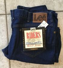 Vintage Lee Riders western cowboy denim jeans boot cut 38 32 New Old Stock USA