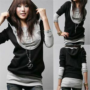 UK-Size-8-26-Women-Long-Sleeve-T-Shirt-Tops-Blouse-Casual-Loose-Jumper-Hoodie