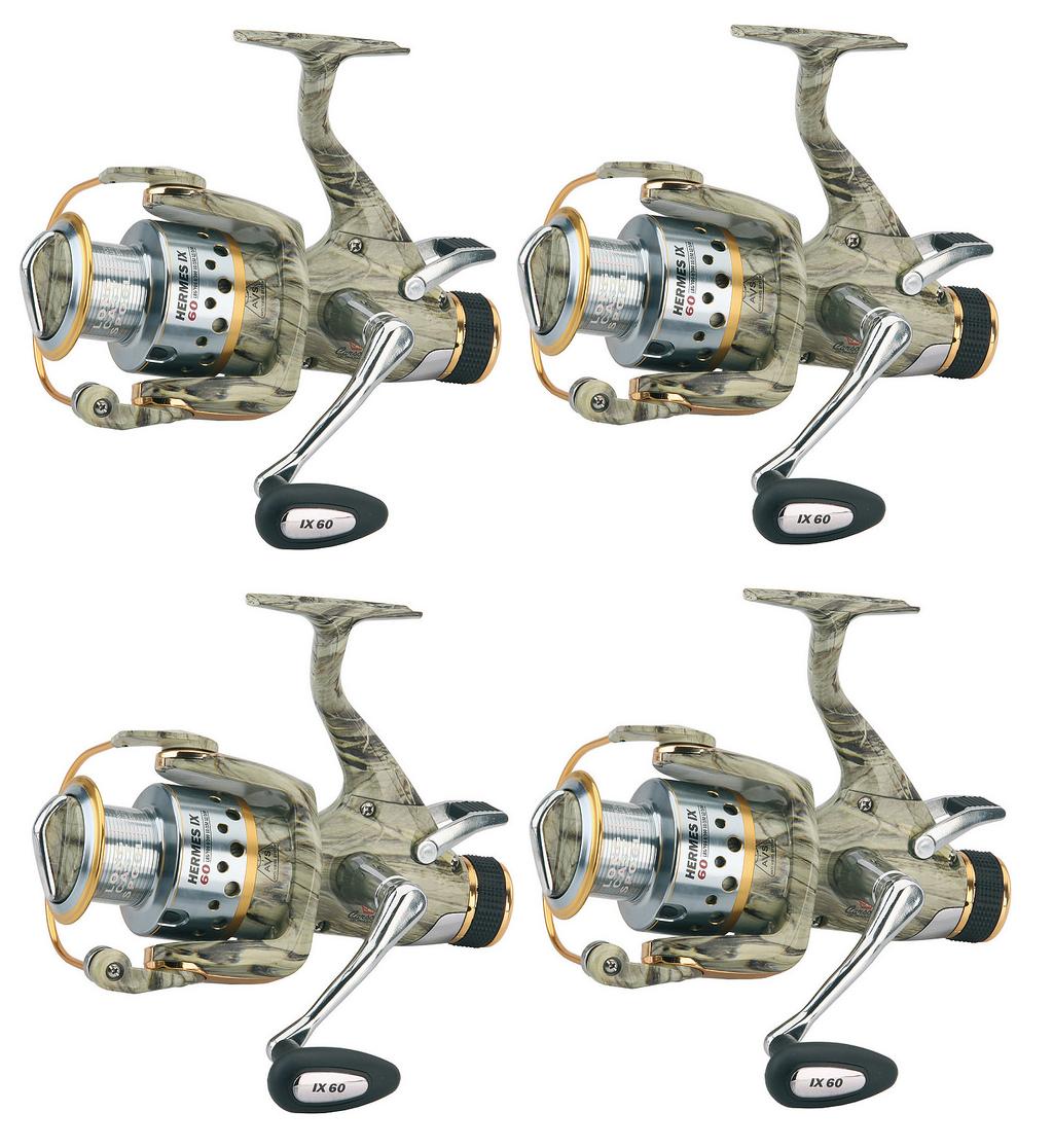 Kit 4 mulinelli mimetici 6000 da pesca autoppesca autop pesca autopa camo