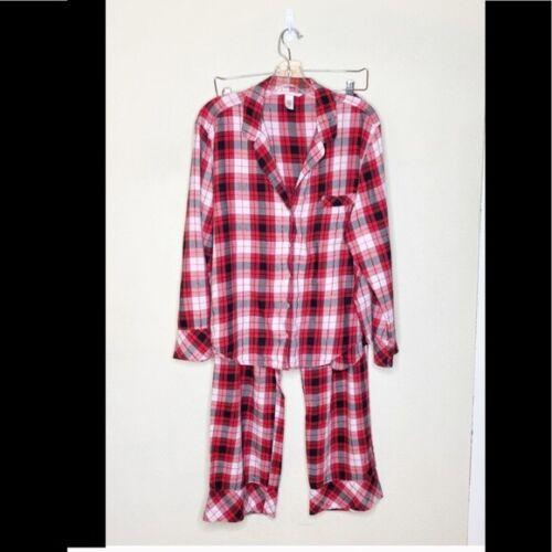 Victoria's Secret Red Plaid Flannel Pajama Set Wom