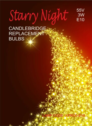 Candle Bulbs Christmas Decorations 3W 55V E10 XPRC4-211 Candlebridge