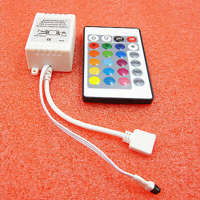 24 Button  LED Light Controller Wireless RGB Ir Remote 12v Dimmer for 5050 3528