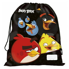 Angry Birds Shoe Bag Duffle School Sport PE Gym Swim Dance Travel Holiday Black