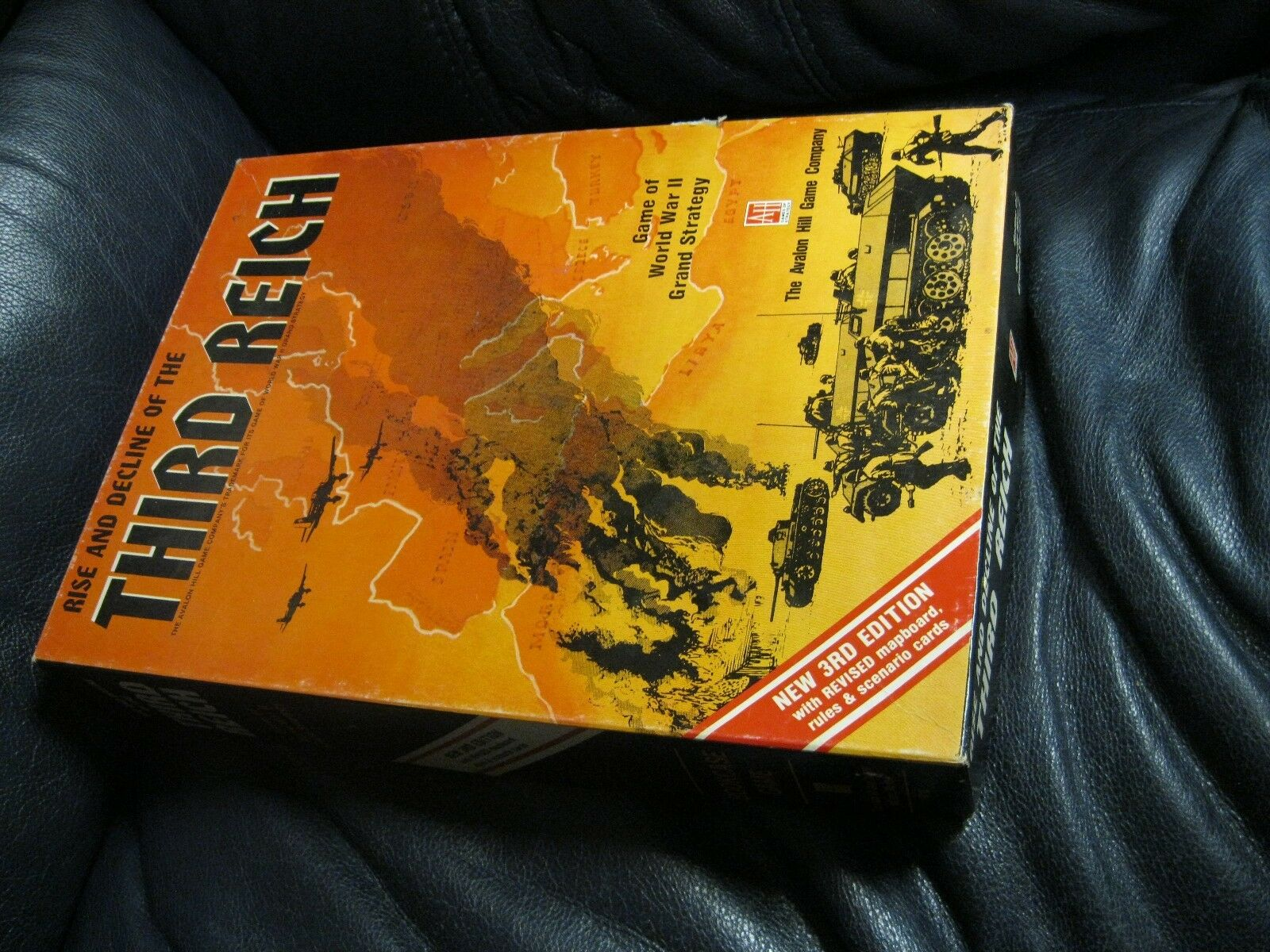 Rise and Decline of the Third Reich WWII Avalon Hill Bookshelf Board Game 1974