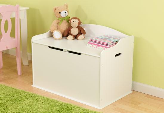 Coffre en bois à jouets et rangement couleur vanille 14958