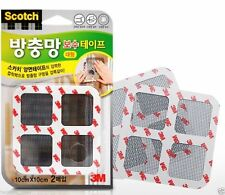 3M Scotch Insect Mosquito Screen Net Repair Tape Patch Adhesive 10x10(cm)  2pcs