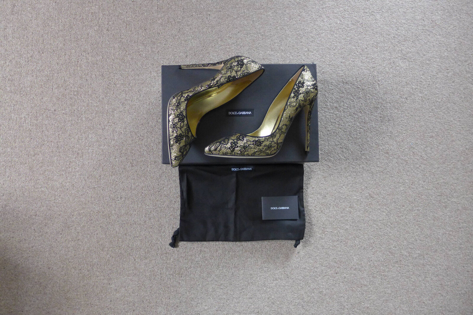 Dolce & Gabbana Glitter Lace Court Schuhes, Schuhes, Schuhes, Größe 40 / UK7 - BNWB, 9713b8