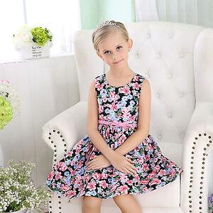 a0c9fb5149b1 NEW Girls Cotton Dress Floral Print with Belt SUMMER DRESSES Orange ...