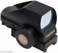 Truglo Trubrite Open Red Dot Sight Dual Color Tg 8380b Black - Tg8380b on sale